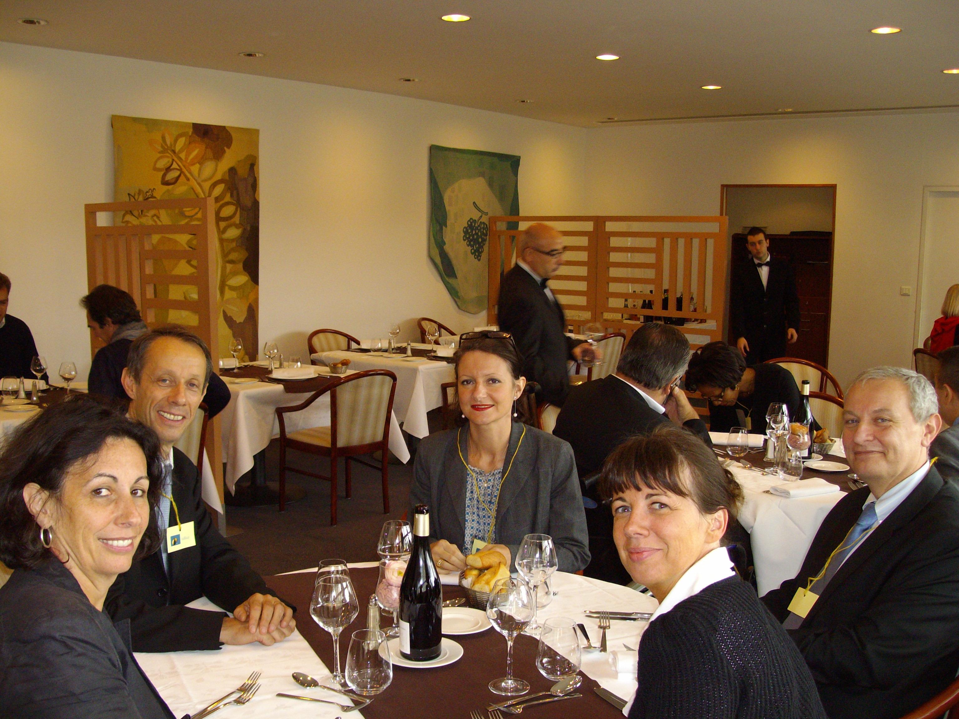 Déjeuner au Restaurant du Conseil Economique, Social et Environnemental: - Isabelle VITTE-BLANCHARD - Yannick GIRAULT - Virginie GOHIN - Patrice ADMENT - Corine NASSOY