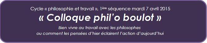 colloque philoboulot
