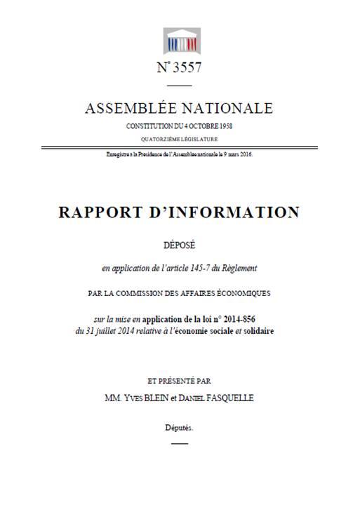 rapport ESS Blein et Fasquelle
