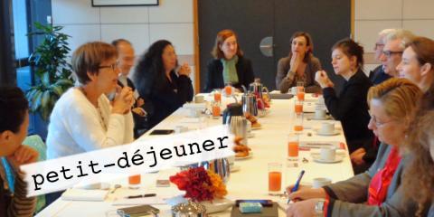 11 janvier 2018 Petit déjeuner avec Miriam Garnier sur le thème mondialisation, finance et citoyenneté