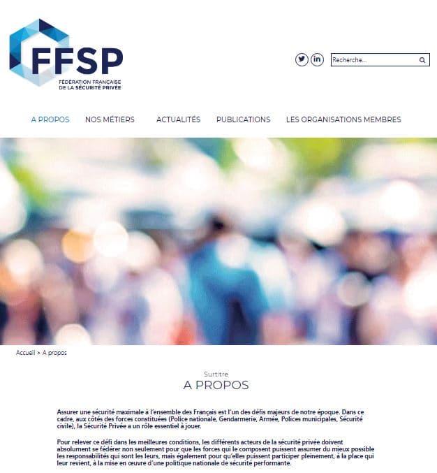 page accueil FFSP