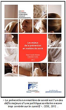 rapport CESE prévention santé 2012
