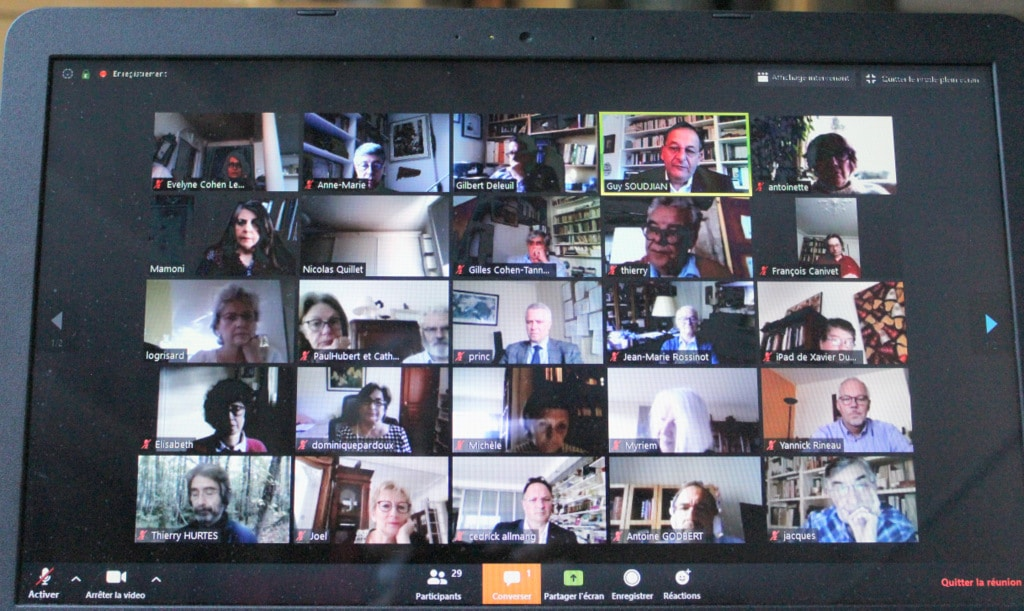 Participants conférence virtuelle