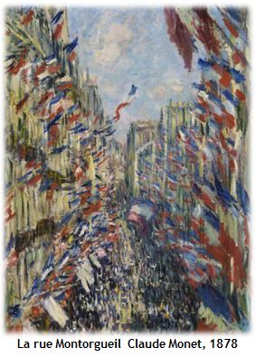 Claude Monet, la rue Montorgueil