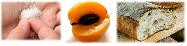sel abricot pain