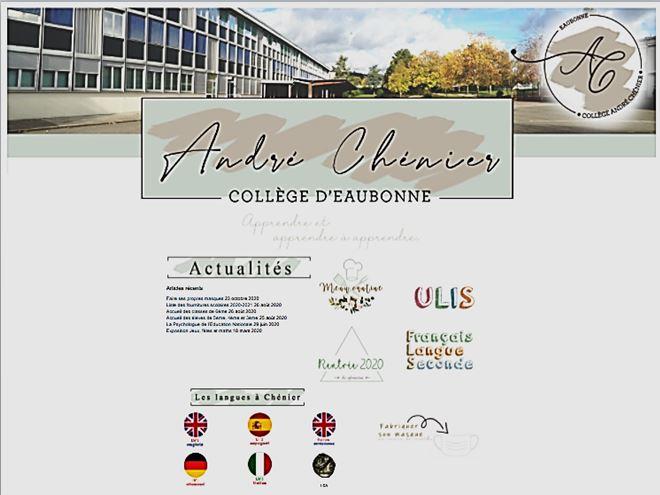 accueil collège sur site académie Versailles